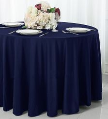 "120"" Seamless Round Scuba (Wrinkle-Free) Tablecloths (7 Color)"