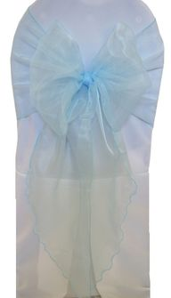 Wide Organza Chair Sashes - Baby Blue 51820 (10pcs/pk)