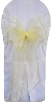 Wide Organza Chair Sashes - Baby Maize 51832 (10pcs/pk)