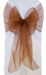 Wide Organza Chair Sashes - Copper 51841 (10pcs/pk)