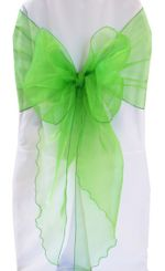Wide Organza Chair Sashes - Emerald Green 51838 (10pcs/pk)