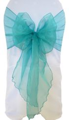 Wide Organza Chair Sashes - Jade 51826 (10pcs/pk)