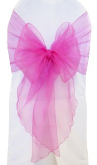 Wide Organza Chair Sashes - Magenta / Azalea 51836 (10pcs/pk)