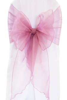 Wide Organza Chair Sashes - Mauve 51807 (10pcs/pk)