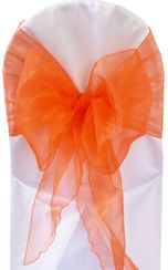Wide Organza Chair Sashes - Orange 51833 (10pcs/pk)