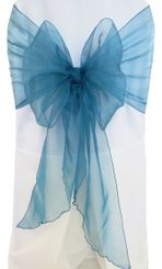 Wide Organza Chair Sashes - Peacock 51859 (10pcs/pk)