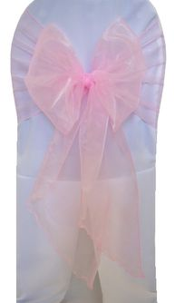 Wide Organza Chair Sashes - Pink 51805 (10pcs/pk)