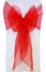 Wide Organza Chair Sashes - Red 51812 (10pcs/pk)