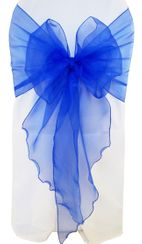Wide Organza Chair Sashes - Royal Blue 51822 (10pcs/pk)
