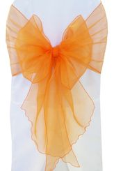 Wide Organza Chair Sashes - Tangerine 51851 (10pcs/pk)