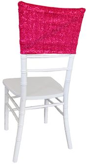 "13.5""x10"" Sequin Spandex Chair Caps - Fuchsia 00209 (1pc/pk)"