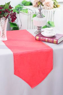 """13""""x108"""" Crushed Taffeta Table Runner - Coral 61206(1pc)"""