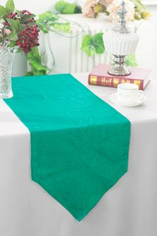 "13""x108"" Crushed Taffeta Table Runner - Jade 61226(1pc)"