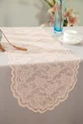"13.5""x108"" Lace Table Runner - Blush Pink 90615(1pc/pk)"