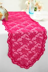 "13.5""x108"" Lace Table Runner - Fuchsia 90609(1pc/pk)"