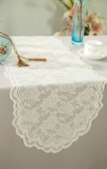 "13.5""x108"" Lace Table Runner - Ivory 90602 (1pc/pk)"