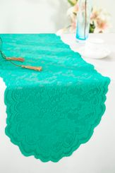 "13.5""x108"" Lace Table Runner - Jade 90626(1pc/pk)"