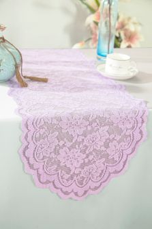 """13.5""""x108"""" Lace Table Runner - Lavender 90611(1pc/pk)"""