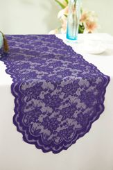 "13.5""x108"" Lace Table Runner - Regency 90663(1pc/pk)"