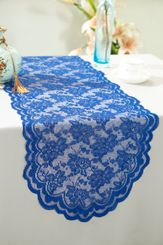 "13.5""x108"" Lace Table Runner - Royal Blue 90622(1pc/pk)"
