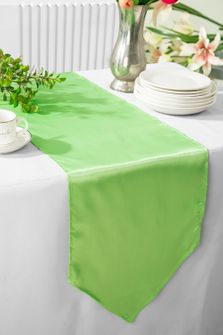 "13.5""x108"" Satin Table Runner - Apple Green 53637(1pc)"