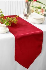 "13.5""x108"" Satin  Table Runner - Apple Red 53608(1pc)"