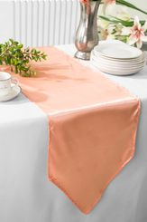 "13.5""x108"" Satin Table Runner - Apricot / Peach 53631(1pc)"