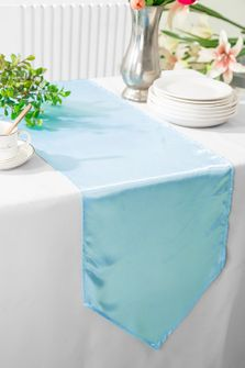 "13.5""x108"" Satin Table Runner - Baby Blue 53620(1pc)"