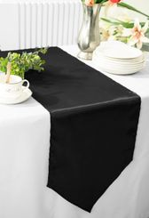 "13.5""x108"" Satin Table Runner - Black 53639(1pc)"