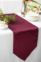 "13.5""x108"" Satin  Table Runner - Burgundy 53610(1pc)"