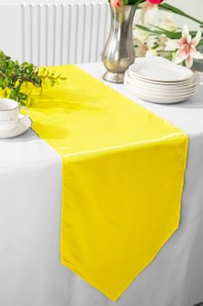 """13.5""""x108"""" Satin Table Runner - Canary Yellow 53616(1pc)"""