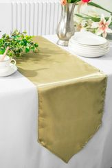 "13.5""x108"" Satin Table Runner - Cappuccino 53646(1pc)"