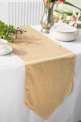 "13.5""x108"" Satin Table Runner - Champagne 53628(1pc)"
