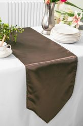 "13.5""x108"" Satin Table Runner - Chocolate 53691(1pc)"