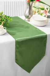 "13.5""x108"" Satin Table Runner - Clover 53648(1pc)"