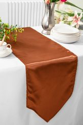 "13.5""x108"" Satin Table Runner - Cognac 53657(1pc)"