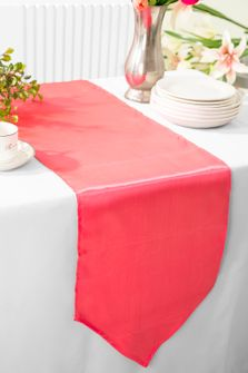 "13.5""x108"" Satin  Table Runner - Coral 53606(1pc)"