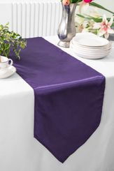 "13.5""x108"" Satin Table Runner - Eggplant 53645(1pc)"