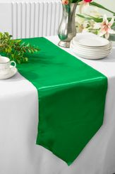 "13.5""x108"" Satin Table Runner - Emerald Green 53638(1pc)"