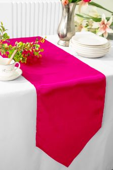 "13.5""x108"" Satin  Table Runner - Fuchsia 53609(1pc)"