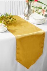 "13.5""x108"" Satin Table Runner - Gold 53627(1pc)"