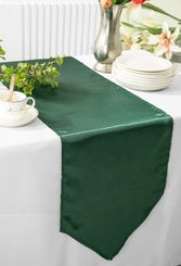 "13.5""x108"" Satin Table Runner - Holly Green / Hunter Green 53619  (1pc)"
