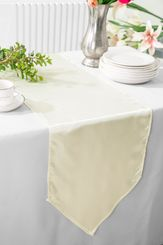 "13.5""x108"" Satin Table Runner - Ivory 53602(1pc)"