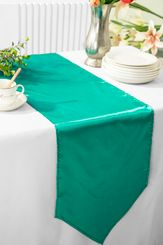 "13.5""x108"" Satin Table Runner - Jade 53626(1pc)"