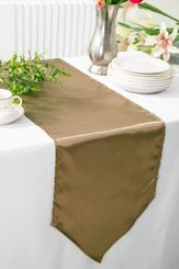 "13.5""x108"" Satin Table Runner - Latte 53668(1pc)"