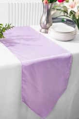 "13.5""x108"" Satin  Table Runner - Lavender 53611(1pc)"