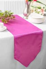 "13.5""x108"" Satin Table Runner - Magenta /Azalea 53636(1pc)"