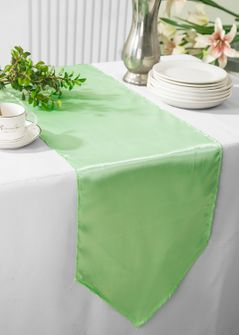 "13.5""x108"" Satin Table Runner - Mint Green 53634(1pc)"