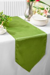 "13.5""x108"" Satin Table Runner - Moss Green 53617(1pc)"