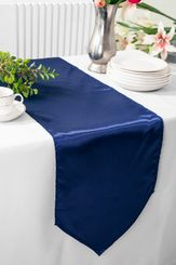 "13.5""x108"" Satin Table Runner - Navy Blue 53623(1pc)"